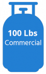 Gas 100 lbs commercial blue