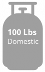 Gas 100 lbs domestic grey
